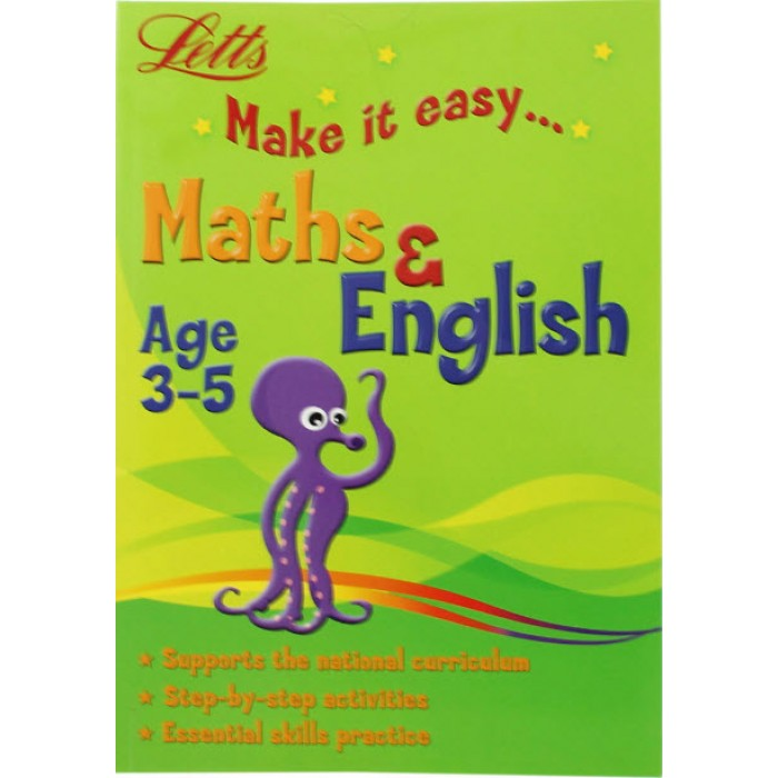 Book in English Math and English 3-5 (Letts Make It Easy) by